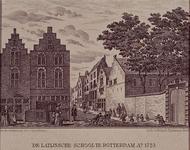 1973-4461 Gezicht op de Wijde Broedersteeg met rechts de ingang van de Latijnsche school.