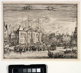 1973-4471 Gezicht op het Admiraliteitshof aan de Spaansekade bij de Oudehaven, uit het westen gezien.
