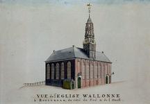 1973-4518 De Waalse kerk, aan de Hoogstraat.
