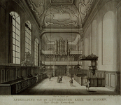 1973-4545 Lutherse Kerk, naar het orgel gezien.