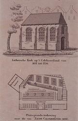 1973-4555 Lutherse kerk aan de Goudsesingel.Boven: afbeelding van de kerk met eronder de titel.Onder: ...