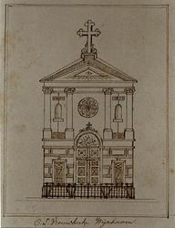 1973-4565 Voorgevel van de R.K. Onze Lieve Vrouwekerk, aan de Wijnhaven.