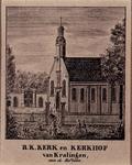 1973-4572 R.K. Kerk en kerkhof van Kralingen aan de Hoflaan.