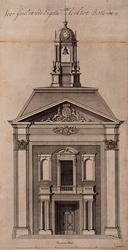 1973-4574 Voorgevel Engelse Episcopaalse kerk aan het Haringvliet.
