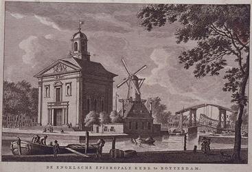 1973-4578 Gezien vanaf Haringvliet zuidzijde; rechts de Nieuwe Oostbrug.