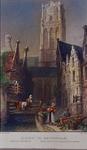 1973-4605 Gezicht op de Grote Kerk te Rotterdam, vanaf de Slijkvaart (later Lange Torenstraat).