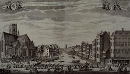 1973-4607 Gezicht op de Rotte naar de Vismarkt en Grote Kerk met links de Laurenskerk, in het midden de Binnenrotte met ...