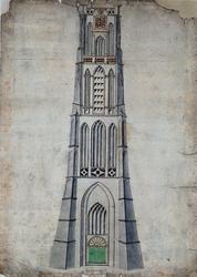 1973-4648 Grote Kerkplein.Toren Sint Laurenskerk.