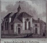 1973-4669 Gezicht op de grote Schotsche Kerk aan het Vasteland, gezien uit het noordoosten.