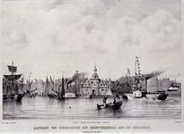 1973-4709 10 juli 1854Aankomst van stoomboten met feestvierenden aan het Oudehoofd.