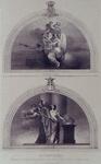 1973-4714 Allegoriën in de muziekzaal gemaakt door de heer J.H. van der Laar.