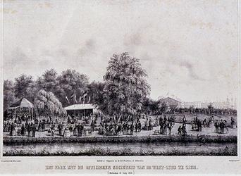 1973-4715 14 juli 1854Het Park (Westzeedijk) met de Officierssociëteit.