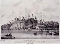 1973-4723 13 juli 1854Het zangfeestgebouw, gezien vanuit het zuidoosten.