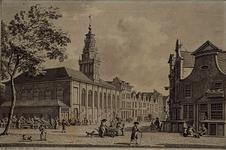 1973-4756 Hoogstraat hoek Korte Hoogstraat, bloemenmarkt bij de Waalse kerk.