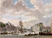 1973-4804 Oudehaven, het noordelijk deel, gezien uit oostelijke richting vanaf de Spaansekade. Links de Geldersekade. ...