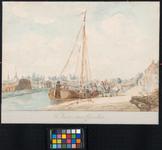 1973-4816 Haven van Charlois uit noordelijke richting gezien. Rechts ligt de Vlaskade, of het verlengde daarvan, de ...