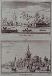 1973-4827 Nederlands-hervormde kerk te Overschie uit het oosten en uit het westen.