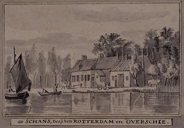 1973-4830 De Schans tussen Rotterdam en Overschie.
