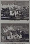 1973-4846 Boven: Achterzijde oude kerk aan de Achterhaven, Achterwater, gezien uit zuidelijke richting.Onder: De oude ...