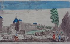 1973-4886 Gezicht op de Blaak met de Beurs en de Gapersbrug, uit het zuidoosten. (in spiegelbeeld)