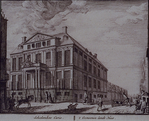 1973-4935 Het Schielandshuis op de voorgrond de Korte Hoogstraat.