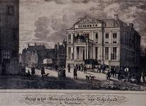 1973-4949 Het Schielandshuis aan de Korte Hoogstraat, uit het noordoosten.