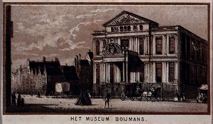 1973-4960 Het Museum Boymans aan de Korte Hoogstraat, uit het noordoosten.