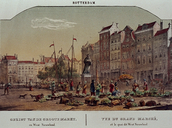 1973-5041 Gezicht op de Grotemarkt en Westnieuwland.