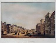 1973-5043 `PLACE ERASME'. Gezicht op de Grotemarkt met in het midden het standbeeld van Erasmus. Uit het westen.