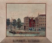 1973-5054 Nieuwehaven met Slepersvest. Links Roobrug met de achtergrond de Geldersekade.