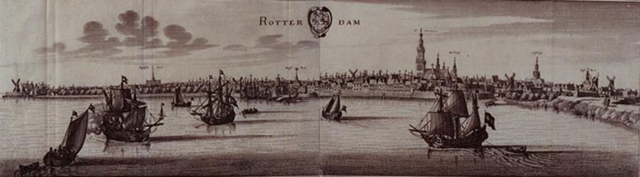 1973-5071 Gezicht op de stad over de Nieuwe Maas.