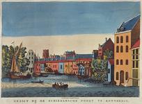 1973-5132 Gezicht op de Schiedamse Poort, vanaf de hoge zeedijk.