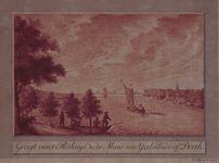 1973-5191 De Nieuwe Maas ter hoogte van de Oude Plantage op de noordelijke oever en het Pesthuis op de zuidelijke.