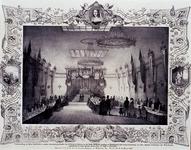 1973-5278 Maart 1849Tentoonstelling dameshandwerken, in de grote zaal van de sociëteit Harmonie.