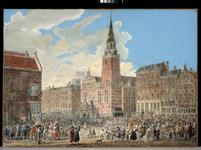 1973-531 20 september 1787, aankomst Pruisische huzaren bij het stadhuis.