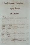 1973-5835 21 mei 1874Programma van de feestelijkheden ter gelegenheid van de 25-jarige regering van Koning Willem III.