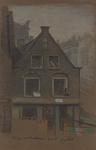 1973-587 Pand met nummer 226 aan de Schiedamsedijk, hoek Wijde Nieuwsteeg, gezien uit het westen.
