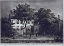 1974-1848 Het huis Ottoburg te Rijswijk, waar de dichter H. Tollens van 1846 tot zijn dood in 1856 woonde.