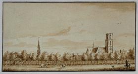 1974-1949 Gezicht op Rotterdam vanuit Crooswijk.