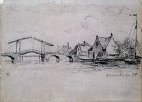 1974-875 De Hogebrug over de Delfshavense Schie.