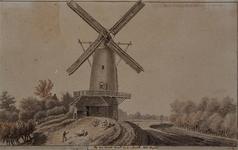 1975-1991 Gezicht op de korenmolen in Zwartewaal.