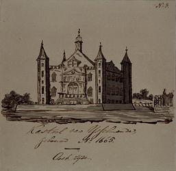 1975-2143 Kasteel van IJsselmonde, gezien aan de oostzijde, gebouwd anno 1665.