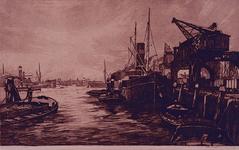 1976-1656 Schepen aan de kade.