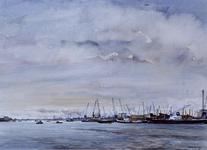 1978-3115 De noordelijke oever van de Nieuwe Maas van de Schiehaven tot de Merwehaven.