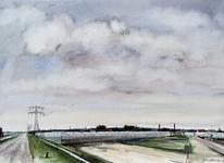 1978-3116 De omgeving van het Staelduinse Bos, het kassengebied ten zuiden van de Maasdijk. Links het Nieuw ...