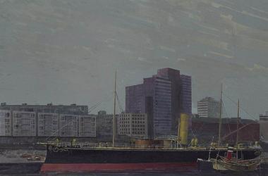 1979-2857 Museumschip De Buffel in de Leuvehaven.