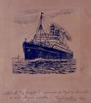 1980-1558 Gezicht op het stoomschip Rotterdam.