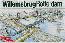 1981-1038 Overzicht van de Maasbruggen ( spoorbrug en Nieuwe Willemsbrug ).Lijst met 20 verwijzingen rechts, links ...