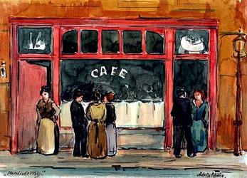 1982-472 Café Het Paard in de Wieg aan het Rodezand.