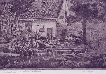 1983-228 Boerenhuisje aan de Slaak.